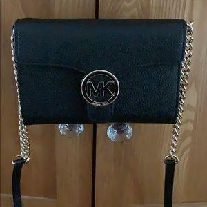Never used — Michael Kors Black Leather Crossbody